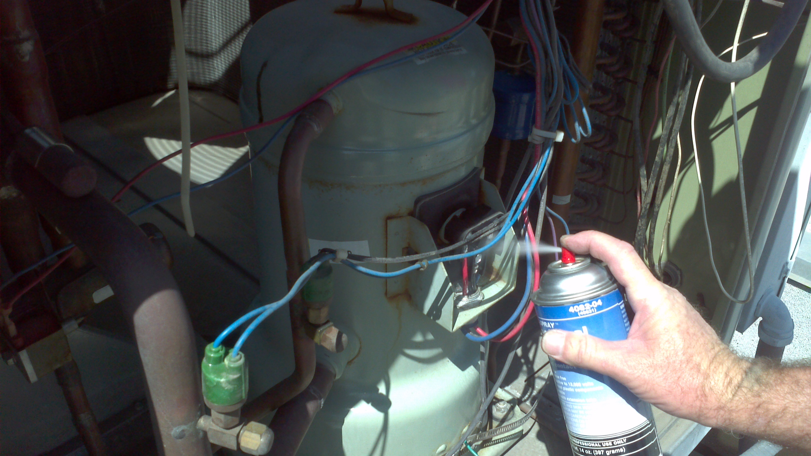 Apply contactor spray to extend electric connection endings
