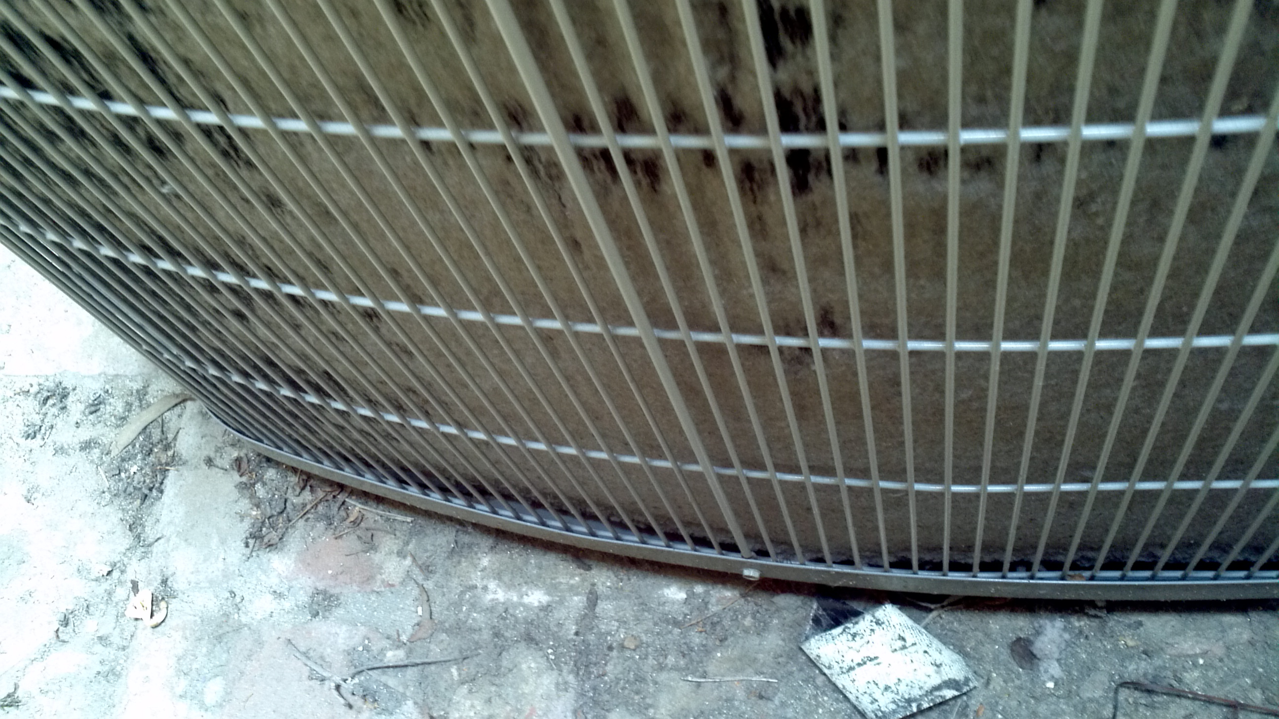 Rice Condenser coil totally blocked 2